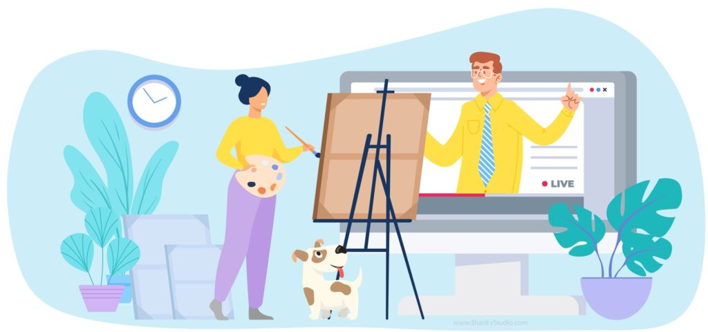 Shanky Studio Online One to One Visual Art Sketching Drawing Painting Class