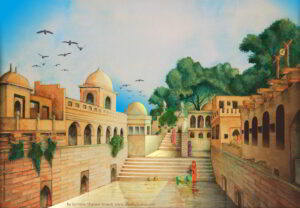 Watercolor Painting Surinder Shanker Anand Shanky Studio