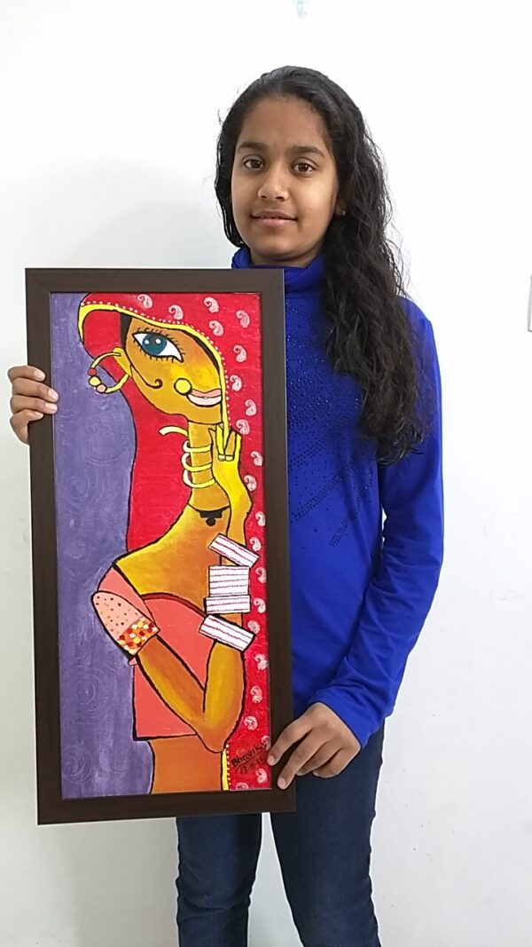 Acrylic Color Painting Shanky Studio Visual Art Sketching Drawing Painting Class