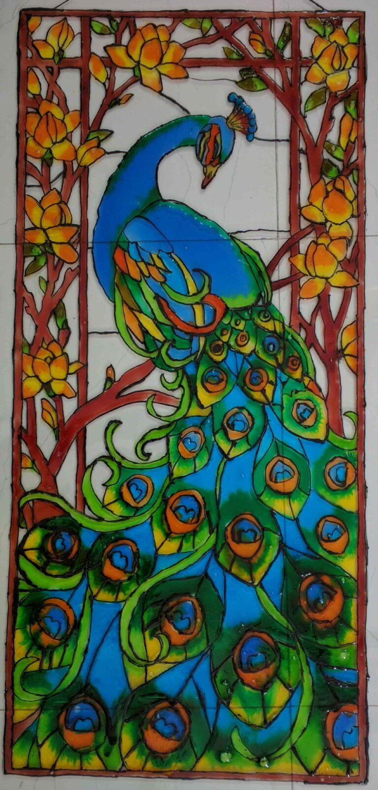 Glass color painting 7 years old shanky studio